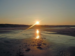 Dänemark Urlaub Strand, Sonnenuntergang