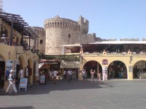 Marktplatz, Rhodos, Griechenland