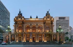 Brasilien Urlaub Municipal Theatre of Sao Paulo