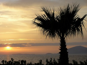 Griechenland Urlaub Sonnenuntergang National Park