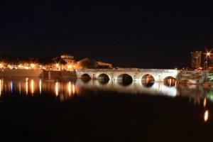 Rimini Urlaub Tiberiusbrücke in Rimini