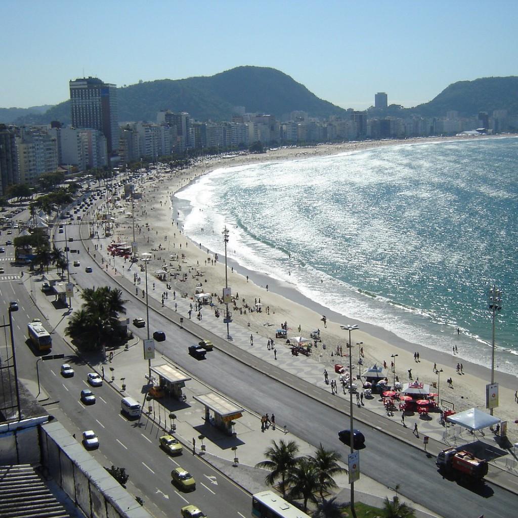 Brasilien Urlaub Rio De Janeiro Beach Copacabana