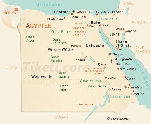 Ägypten Urlaub Karte