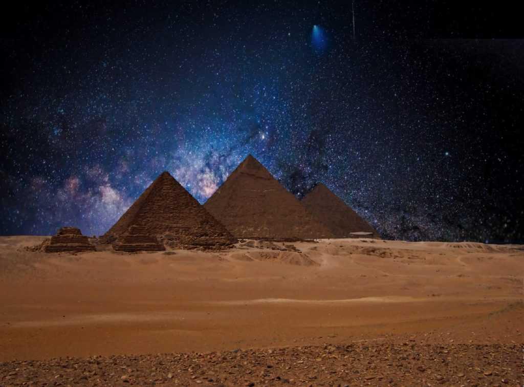 Ägypten Urlaub Wüste Pyramide Sterne Giza