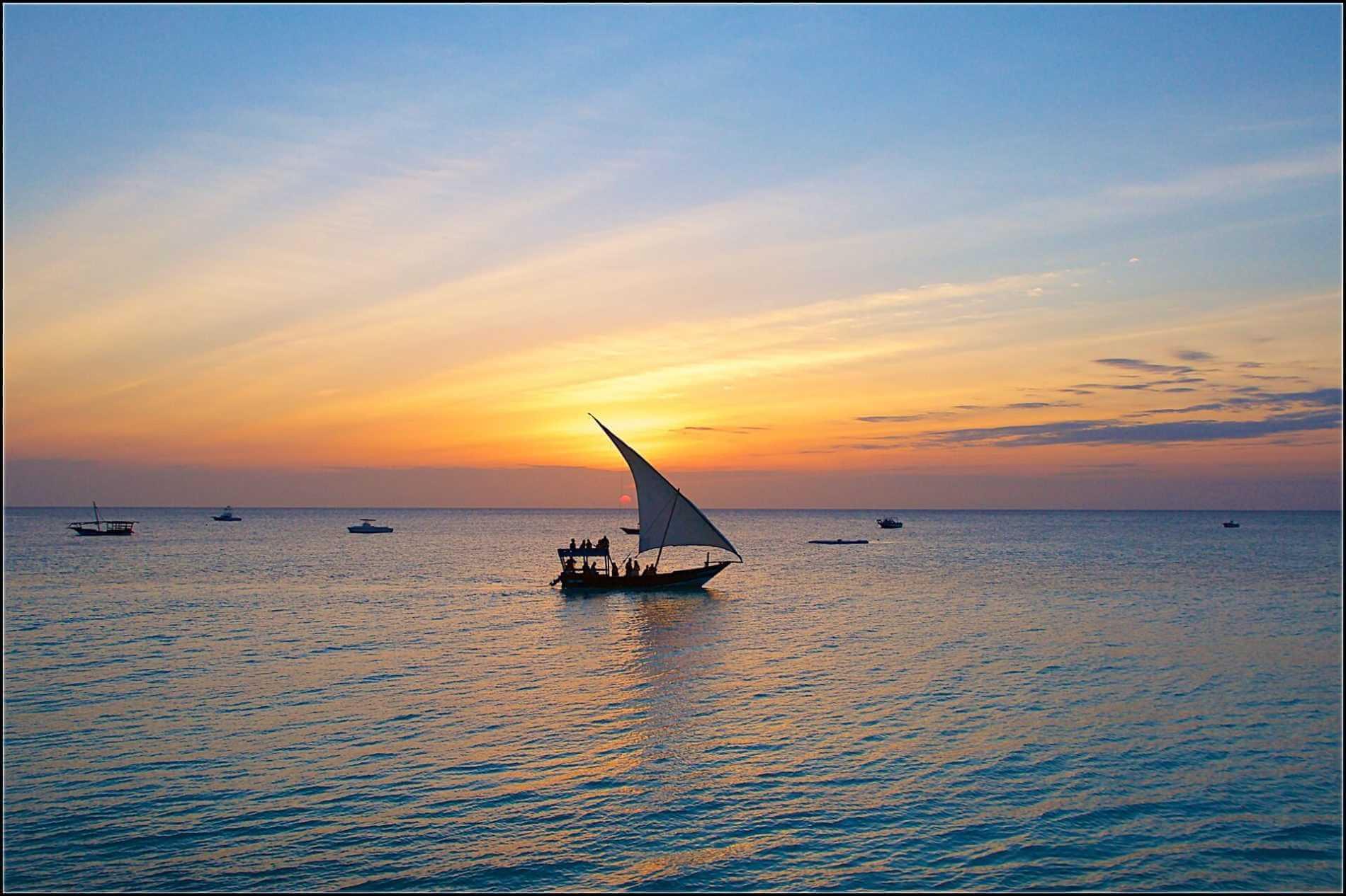 Sansibar Urlaub Dhau Ozean