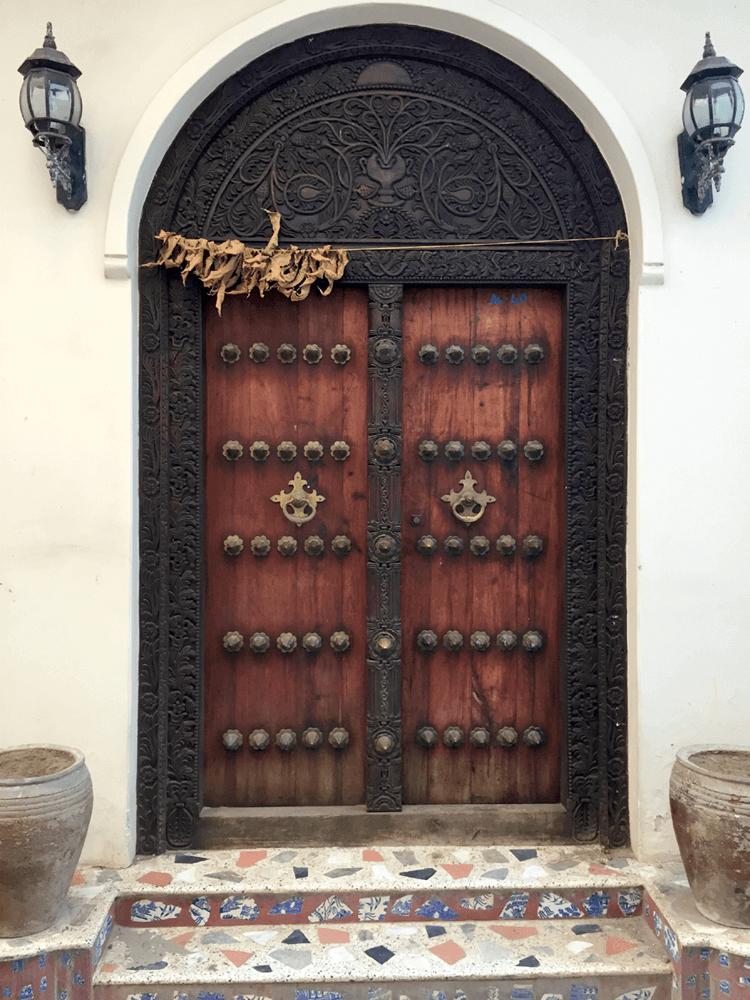 Sansibar Urlaub historische Tür